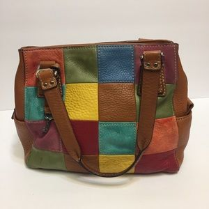 Fossil patch purse.